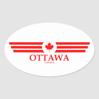 OTTAWA OVAL STICKER