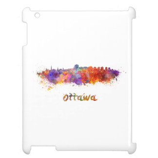 Ottawa skyline in watercolor case for the iPad