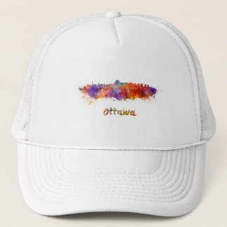 Ottawa skyline in watercolor trucker hat