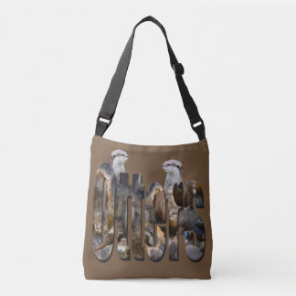 Otter And Otters Logo, Brown Crossbody Bag