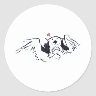 Otter Angel Stickers