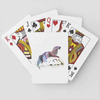 Otter art playing cards
