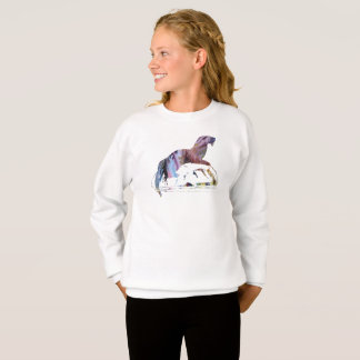 Otter art sweatshirt