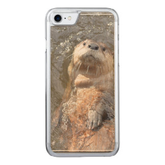 Otter Back Float Carved iPhone 7 Case