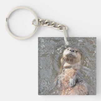 Otter Back Float Keychain