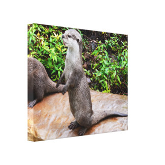 Otter Be Talking, Canvas Print
