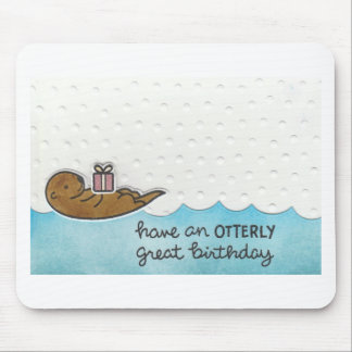 Otter Birthday Mouse Pad