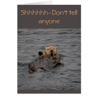 Otter Birthday Wishes Card