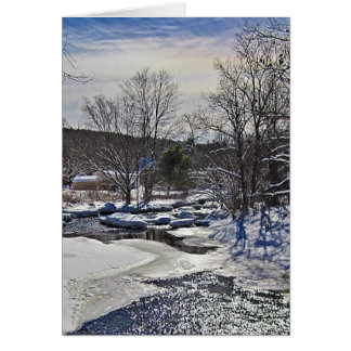 Otter Brook Winter Scene Card