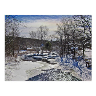 Otter Brook Winter Scene Postcard