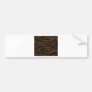 Otter Brown Tiger Bumper Sticker