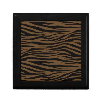Otter Brown Tiger Keepsake Boxes