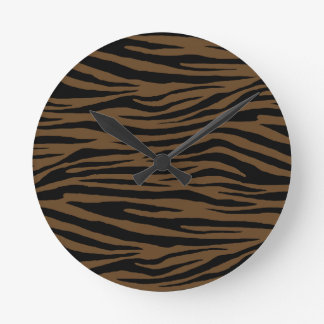 Otter Brown Tiger Wallclock