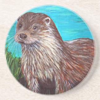 Otter by a River Coaster