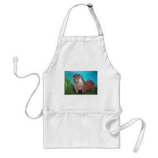 Otter by a River Standard Apron