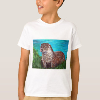 Otter by a River T-Shirt
