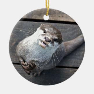 Otter Ceramic Ornament
