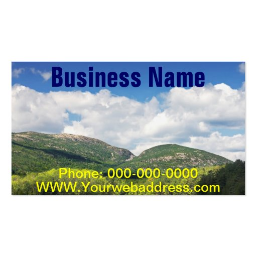 Otter Cove And mountains Acadia National Park Business Card Templates
