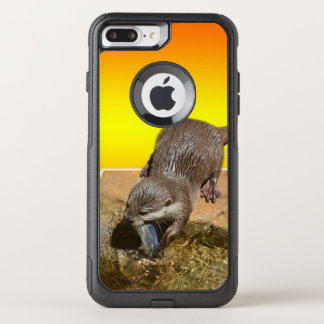 Otter Eating Otterly Delicious Fish, OtterBox Commuter iPhone 8 Plus/7 Plus Case