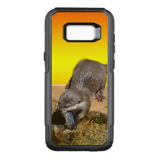 Otter Eating Otterly Delicious Fish, OtterBox Commuter Samsung Galaxy S8+ Case