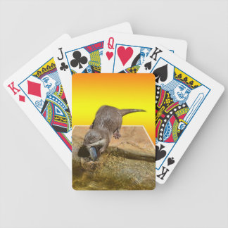 Otter Eating Tasty Fish By His Pond, Bicycle Playing Cards