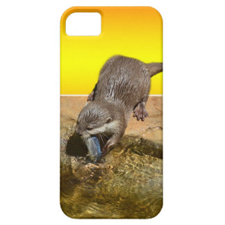 Otter Eating Tasty Fish By His Pond, Case For The iPhone 5