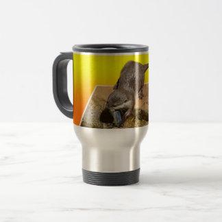 Otter Eating Tasty Fish By His Pond, Travel Mug