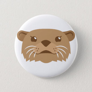 otter face 2 inch round button