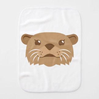 otter face burp cloth
