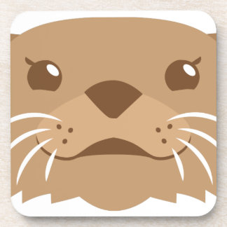otter face coaster