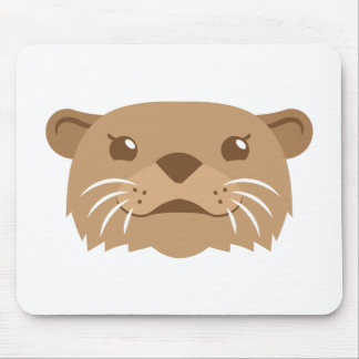 otter face mouse pad