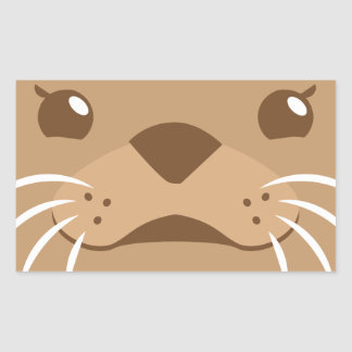 otter face sticker
