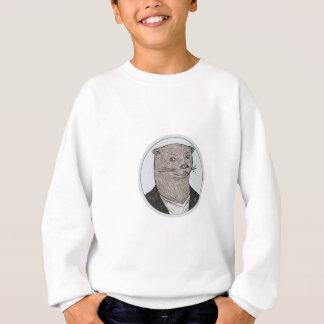 Otter Head Blazer Shirt Oval Drawing