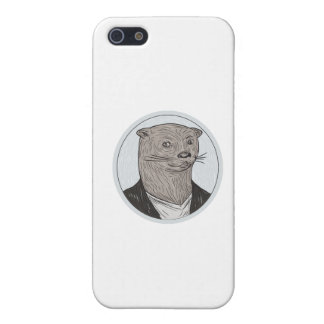 Otter Head Blazer Shirt Oval Drawing Case For iPhone 5/5S