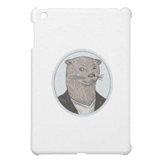 Otter Head Blazer Shirt Oval Drawing iPad Mini Cover