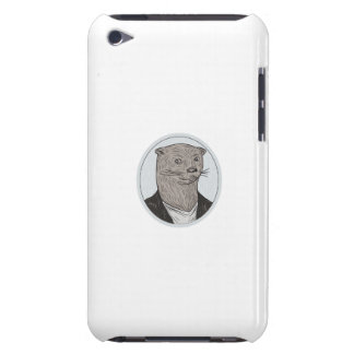 Otter Head Blazer Shirt Oval Drawing iPod Touch Covers