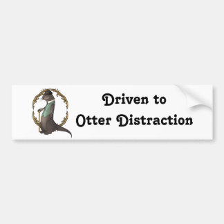 Otter in a Waistcoat and Bowler Hat Bumper Sticker