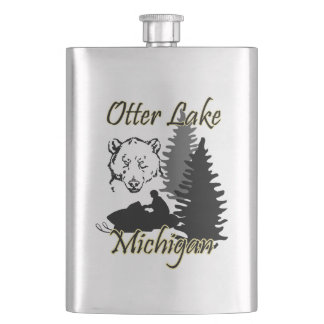 Otter Lake Michigan Flask