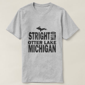 Otter Lake Michigan Funny Grey Basic T-Shirt