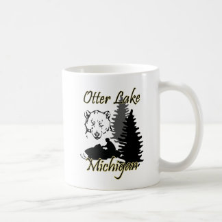Otter Lake Michigan Snowmobile Bear Mug