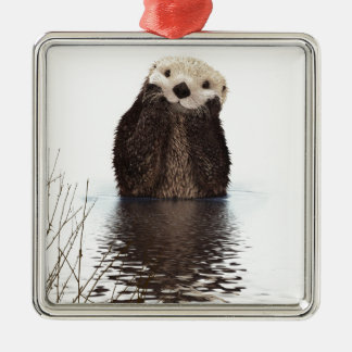 Otter Metal Ornament