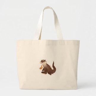 Otter n' Goldfish Large Tote Bag