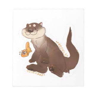 Otter n' Goldfish Notepad