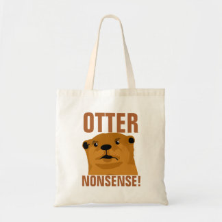 Otter Nonsense Tote Bag
