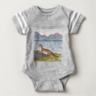 otter of the loch baby bodysuit