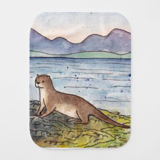 otter of the loch burp cloth