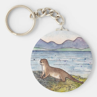 otter of the loch keychain