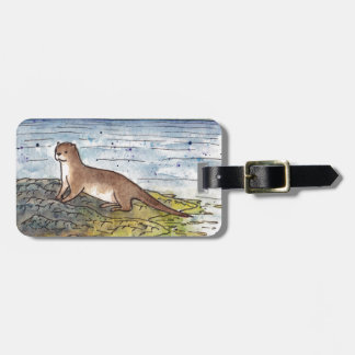 otter of the loch luggage tag