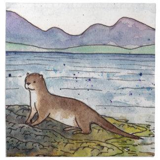 otter of the loch napkin