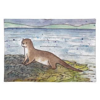 otter of the loch placemat